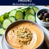 White Bean Roasted Red Pepper Hummus