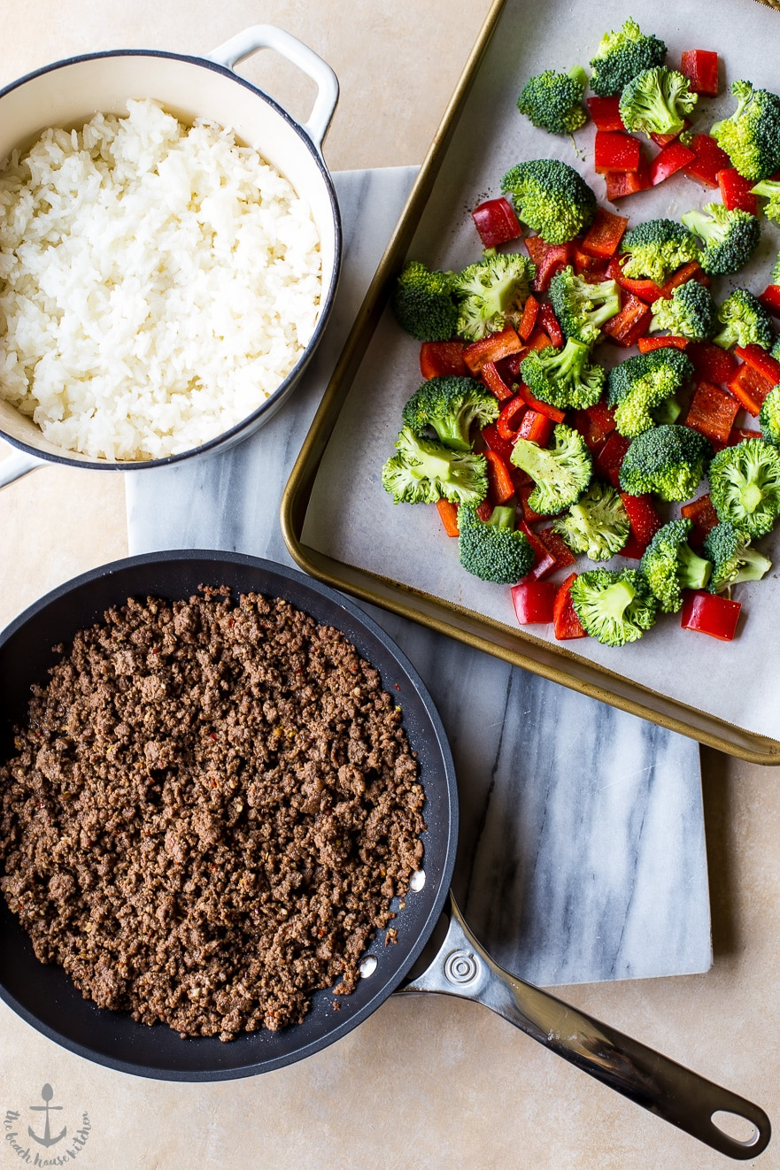 Korean Ground Beef with Broccoli and Peppers | The Beach ...