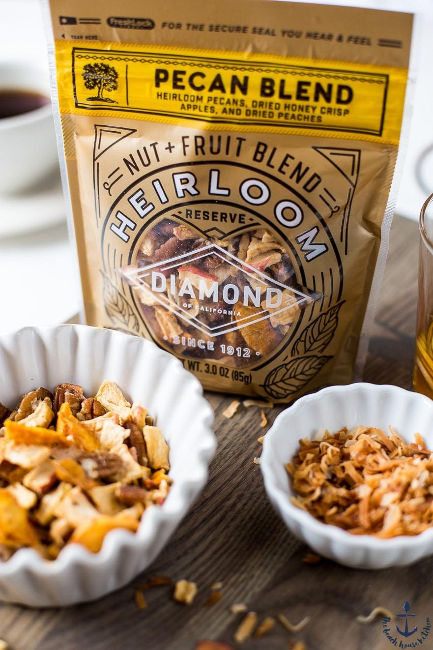 Closeup shot of Diamond of CA Heirloom Nut & Fruit blend