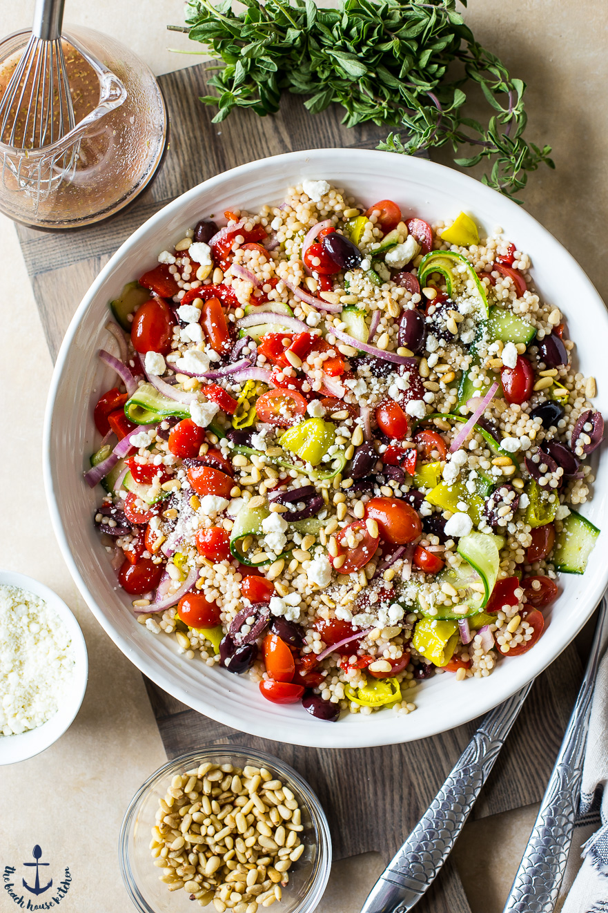 Greek Couscous Salad The Beach House Kitchen