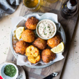Lobster Hush Puppies with Creole Remoulade