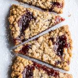 Strawberry Jam Crumb Bars
