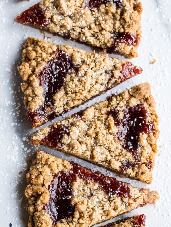 Strawberry Jam Crumb Cookies