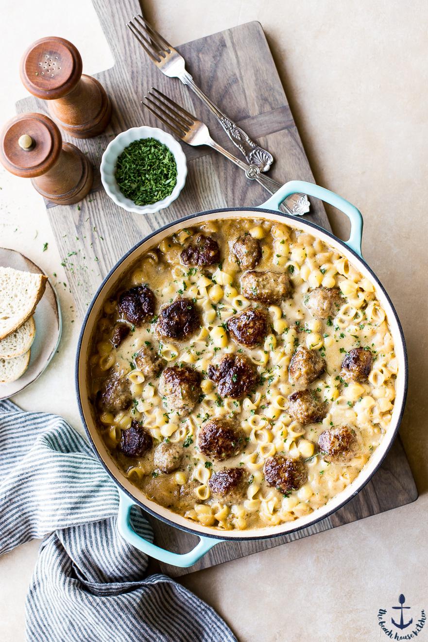 Swedish Meatball Pasta Bake