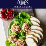 Long Pin for Chicken Salad with peppadews and olives