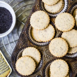 Lemon Poppyseed Shortbread Cookies