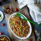 Ground Turkey Cowboy Caviar Salad