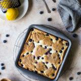 Lemon Blueberry Cheesecake Blondie Bars