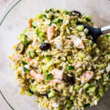 Lemony Orzo Pasta Salad with Shrimp