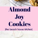 Almond Joy Cookies long Pinterest pin