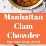 Manhattan Clam Chowder long Pinterest pin