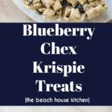 Blueberry Chex Krispie Treat long Pinterest pin
