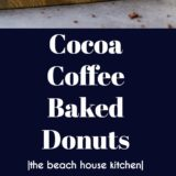 Cocoa Coffee Baked Donuts long Pinterest pin