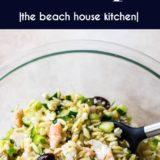 Lemony Orzo Pasta Salad with Shrimp long Pinterest pin