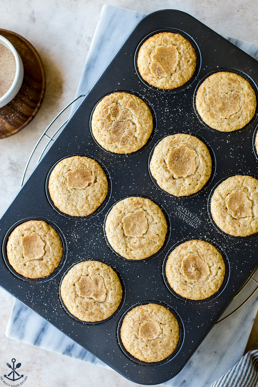Baked Snickerdoodle Cupcakes in a cupcake pan