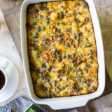 Creole Breakfast Egg Bake with Sausage and Potatoes