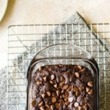Chocolate Zucchini Bread long Pinterest pin
