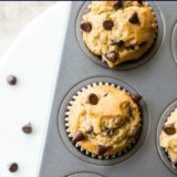 Easy Chocolate Chip Muffins long Pinterest pin