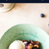 Earl Grey Blueberry Cobbler long Pinterest pin