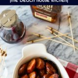 Maple Bourbon BBQ Kielbasa Bites long Pinterest pin