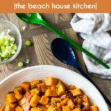 Spicy Sweet Potato Salad long Pinterest pin