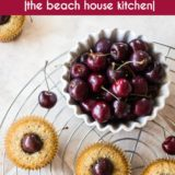 Sweet Cherry Pistachio Tea Cakes long Pinterest pin