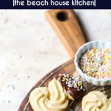 Chocolate Dipped Danish Butter Cookies long Pinterest pin