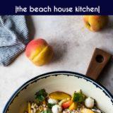 Peach Corn Caprese Couscous Salad long Pinterest pin