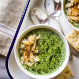 Creamy Spinach Soup with Crabmeat
