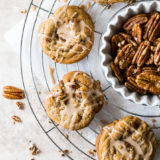 Brown Sugar Praline Cookies with Praline Cinnamon Glaze
