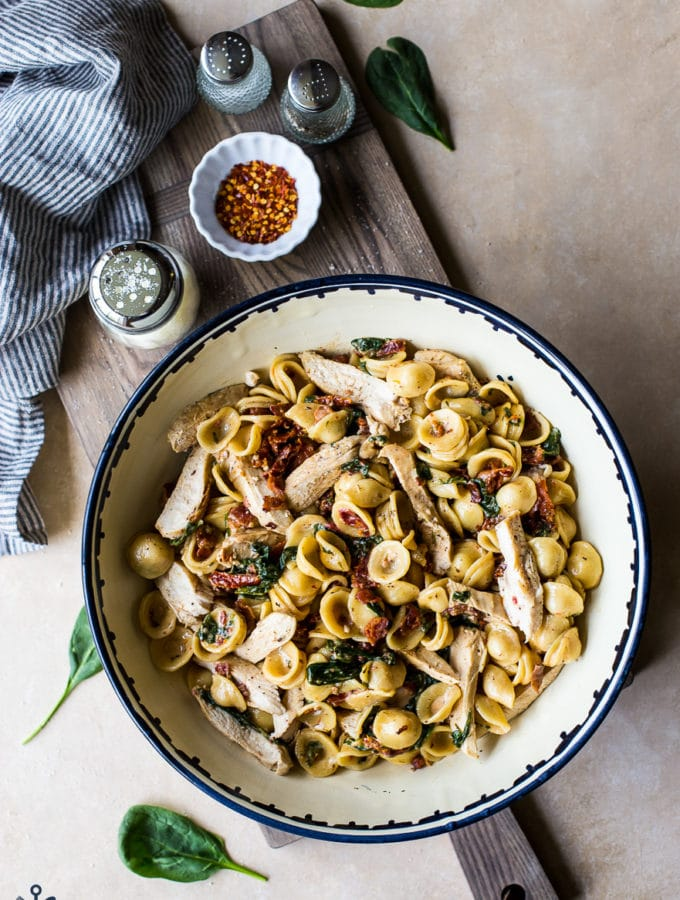 Chicken Pasta with Sun-Dried Tomato Bacon Cream Sauce