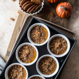 Pumpkin Custards with Gingersnap Crumble
