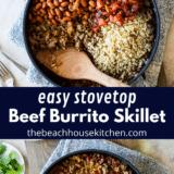 Beef Burrito Skillet long Pinterest Pin