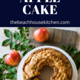 Jewish Apple Cake long Pinterest pin