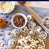Pumpkin Spice WHite Chocolate Pecan Caramels long Pinterest pin