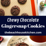 Chewy Chocolate Gingersnap Cookies long Pinterest pin