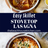 Easy Skillet Stovetop Lasagna long Pinteresr pin