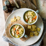 Lemony Chicken with Stars Soup
