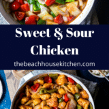 Sweet and Sour Chicken long Pinterest pin