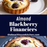 Almond Blackberry Financiers Pinterest pin