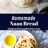 Homemade Naan Bread long Pinterest pin
