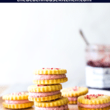 Key Lime Sandwich Cookies with Raspberry Buttercream long Pinterest pin