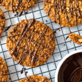 Pecan Coconut Lace Cookies Pinterest pin