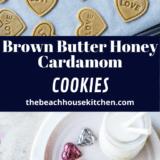 Brown Butter Honey Cardamom Cookies
