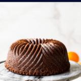 Chocolate Orange Bundt Cake long Pinterest pin