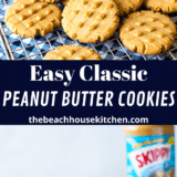 Classic Peanut Butter Cookies long Pinterest pin