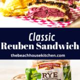 Classic Reuben Sandwich long Pinterest pin