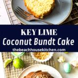 Key Lime Coconut Bundt Cake long Pinterest pin