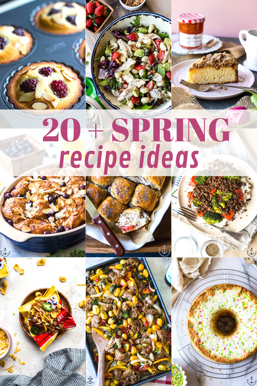 Our Favorite Spring Recipes collage