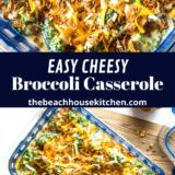 Easy Holiday Broccoli Casserole long Pinterest pin